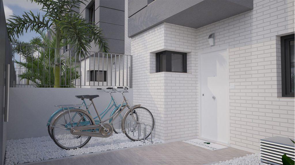 Entrada a una vivienda de obra nueva en San Juan