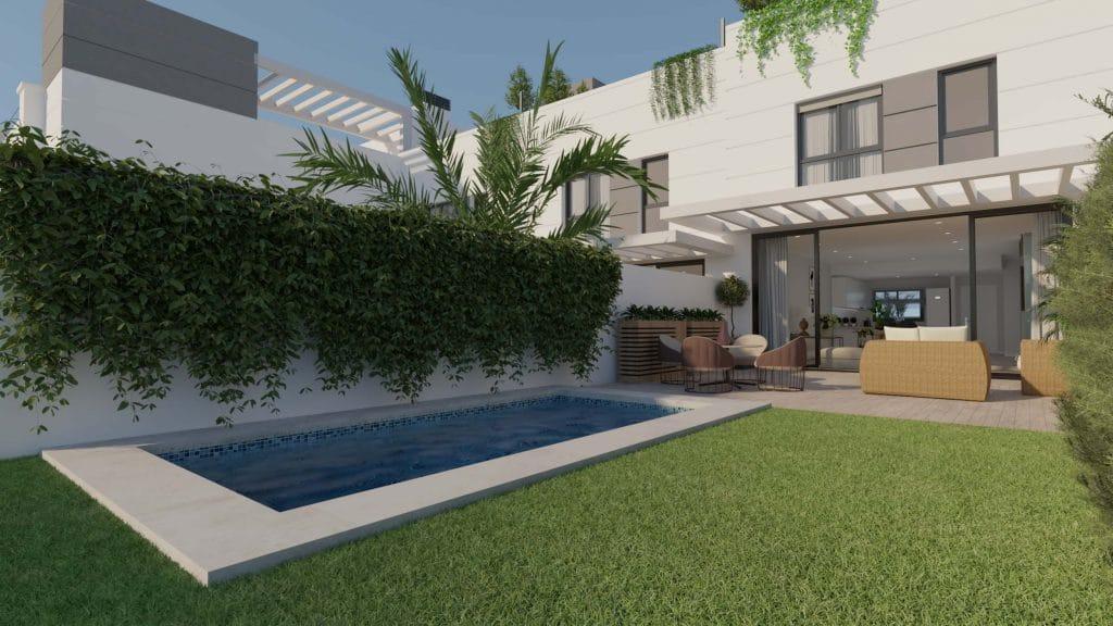 Casa adosada con piscina en San Juan de Alicante