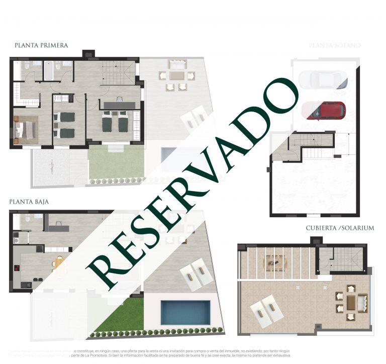 Plano de la vivienda número 1 en San Juan de Alicante