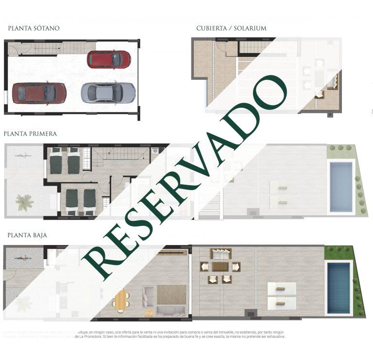 Plano comercial de una vivienda en San Juan de Alicante
