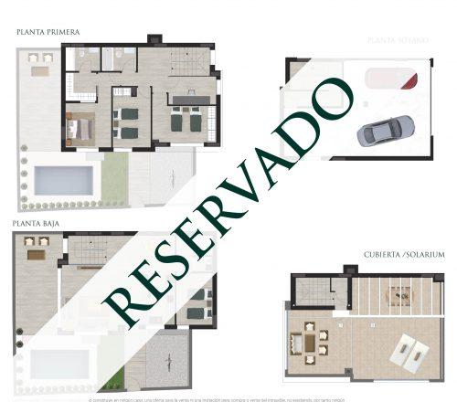 Plano comercial de una vivienda reservada en San Juan de Alicante